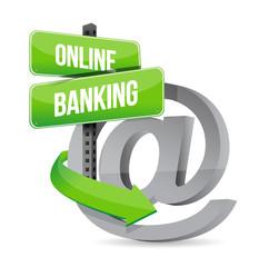 online banking at symbol sign illustration design