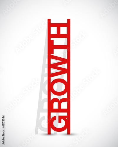 growth text ladder concept illustration design