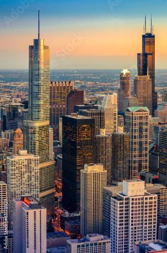 Chicago Dusk - 63178929