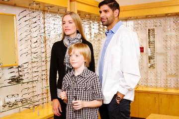 Child choosing glasses