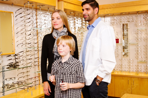 Child choosing glasses