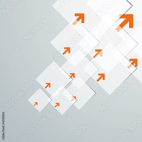Printed arrows on tracing paper #Vector Background