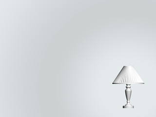 Background - a desk lamp white