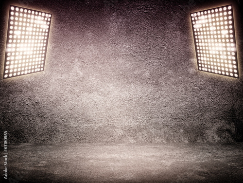 Reflector lamp on empty outdoor background