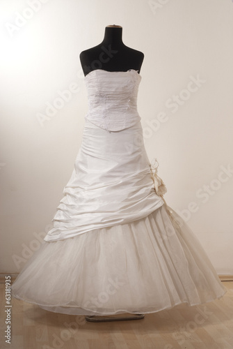 White wedding dress front