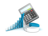 office calculator and business successful finance grow charts - 63182576