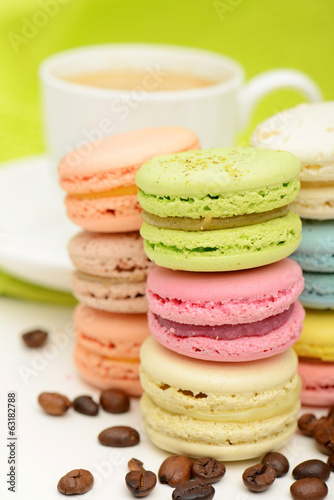 macaroon and coffee