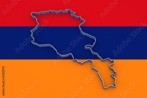 Map of Armenia.
