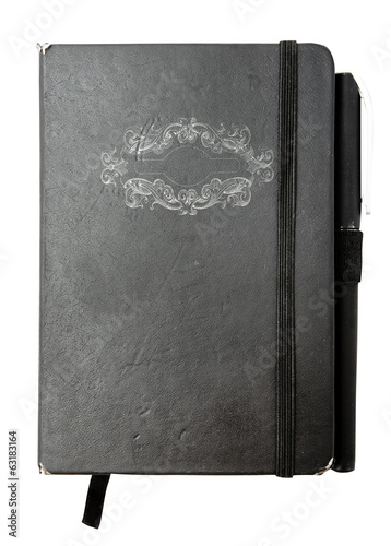 Note pad with ornament