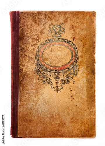 book cover with  ornament