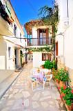 Narrow streets of Chora, Skiathos island, Greece - 63183799