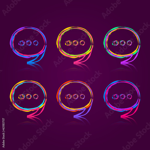 Colorful Speech Bubble Set