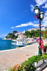 Skiathos old port, Greece