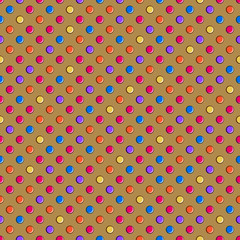 Dark Brown Seamless Polka Dot Pattern