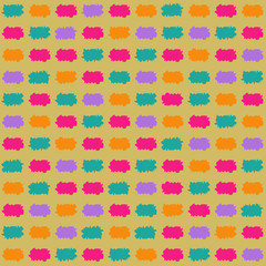Bright Paint Stroke Seamless Pattern