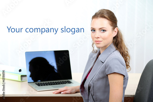 Woman in office at workplace
