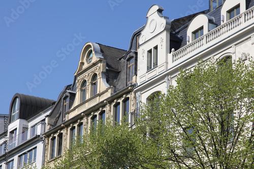 historische Stadthäuser in Frankfurt