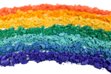 Rainbow crushed eyeshadow close up