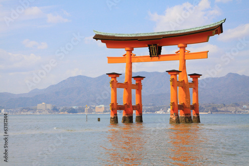 Torii with seascape