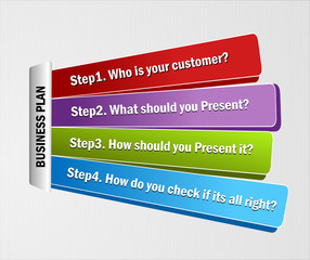 Vector Template of steps for business presentation