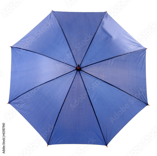 Blue Umbrella isolated on white