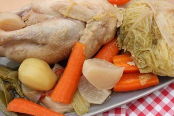 Poule au Pot  -  Légumes de Pot au Feu