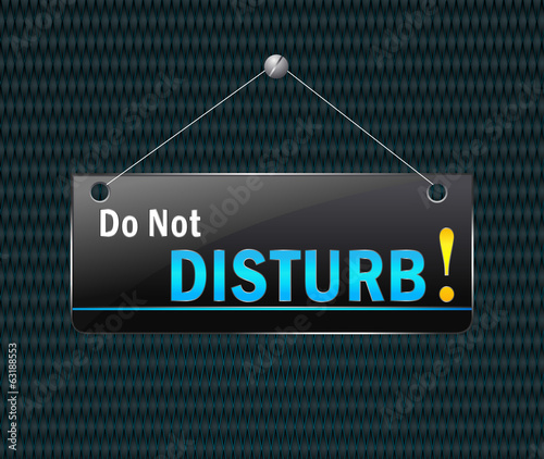 Do not disturb hanging sign - Vector signboard