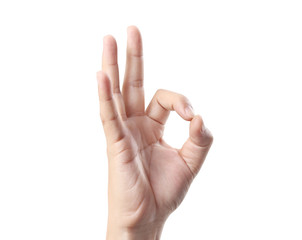 hand in ok sign