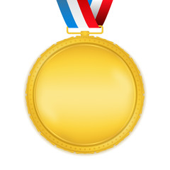 Golden Medal with Ribbon