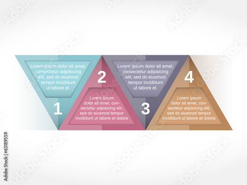 Design Template with Four Elements