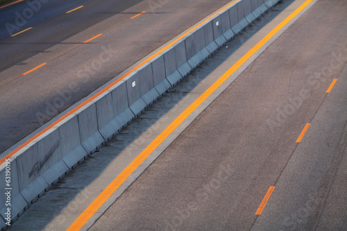 Road with orange lines