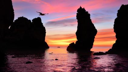 Herrlicher Sonnenaufgang am Meer