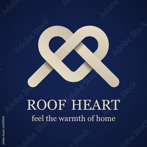 vector abstract roof heart symbol