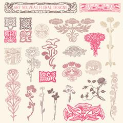 Art Nouveau Floral Ornaments