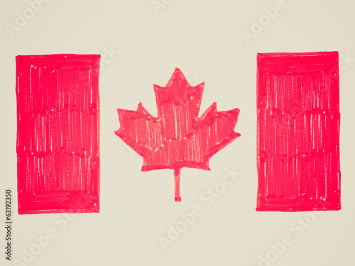Retro look Canadian flag