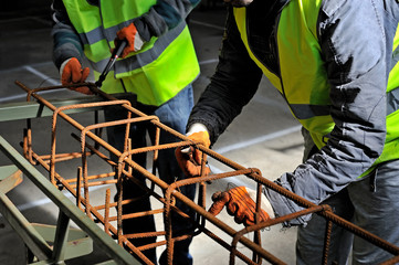 Fixing steel reinforcement bars