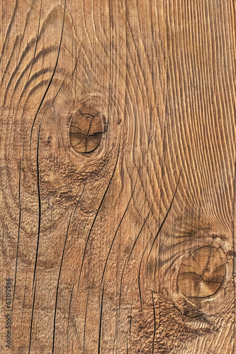 Old Weathered Cracked Rough Textured Knotted Plank