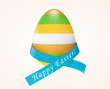 Happy Easter concept. Easter egg with ribbon