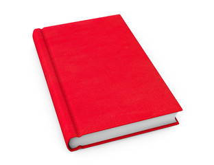 Book with red blank cover