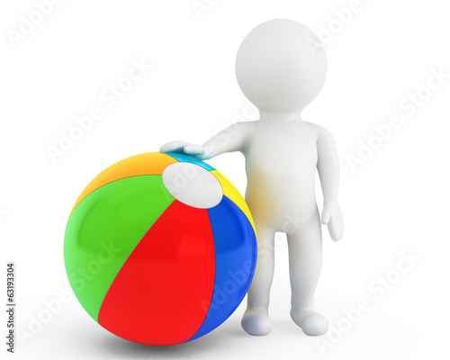 3d person with a beach ball