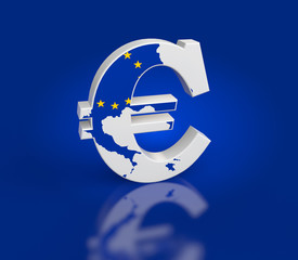 Euro Sign with Map texture