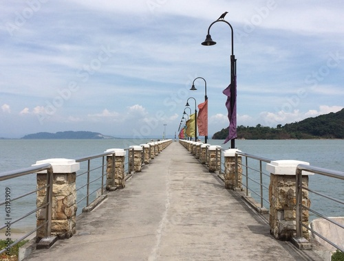 Jetty for boat ride to Jerejak island in Penang