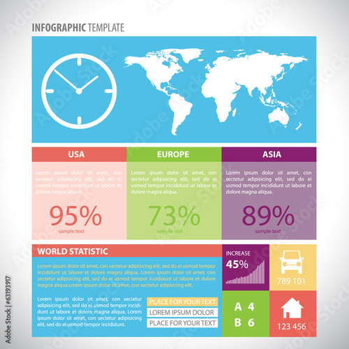 Colorful infographic template. Eps10