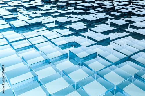 abstrakter Glaswürfel Hintergrund