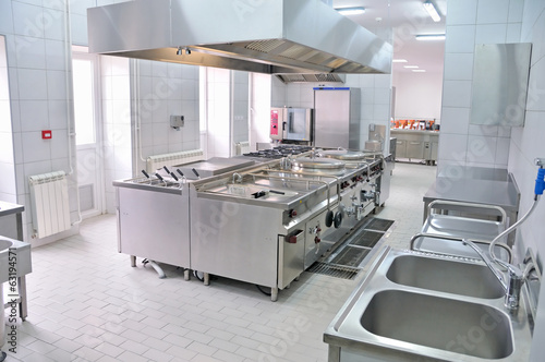 Leinwanddruck Bild Professional kitchen interior