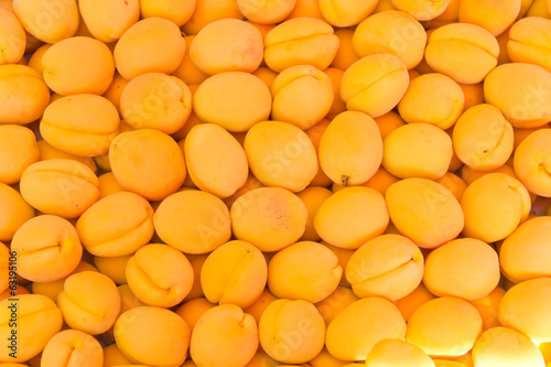 Background yellow apricots