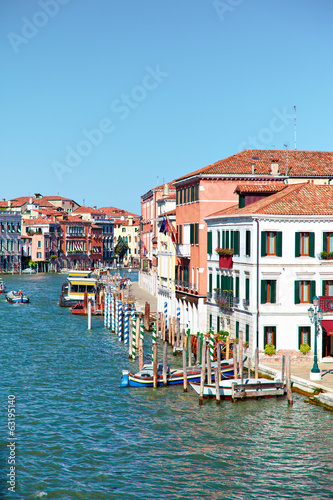 View on Grand Canal from Ponte degli Scalzi in Venice, Italy