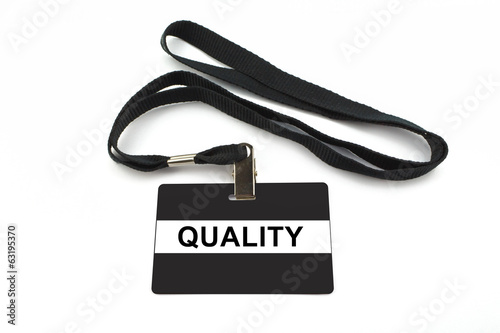 quality badge isolated on white background