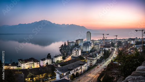Sunset Above Montreux...