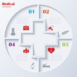 Abstract concept of medicine with  medical and healthcare icons